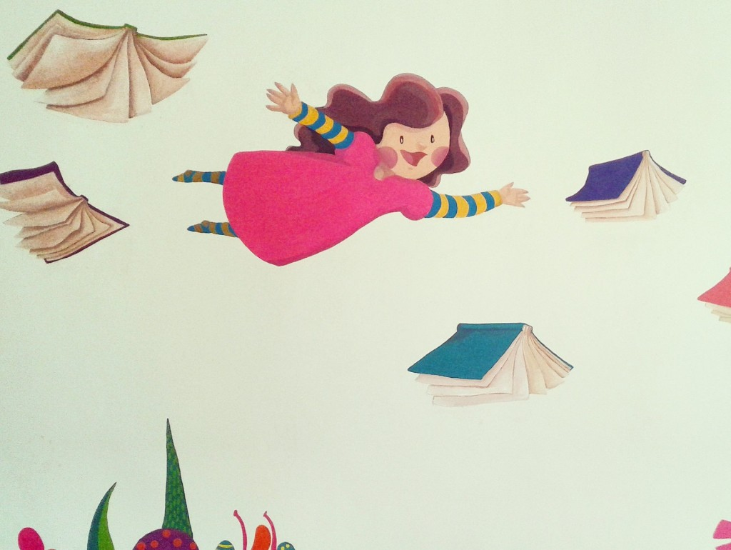 An artist is trying to brighten up Refugee school